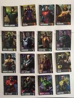 Injustice League Arcade game cards