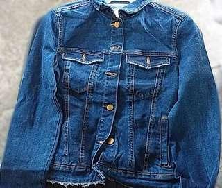 Bershka Dark Denim Jacket