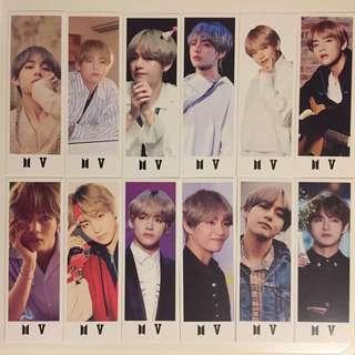 BTS taehyung v bookmark