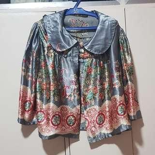 Silk Kimono cape