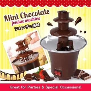 🚚 Mini Chocolate Fondue Fountain Maker Machine Cotton Candy Party House Warming Gift