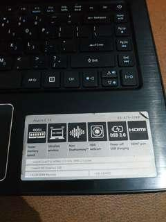 Laptop Acer E14 e5-475-37kp