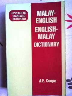 [Bahasa] MALAY-ENGLISH ENGLISH-MALAY DICTIONARY by A.E. Coope