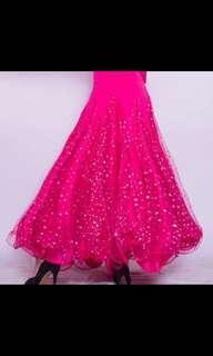 Ballroom dance skirt