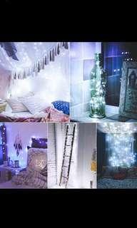 10m fairy lights in white