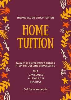 1-to-1 Home Tuition