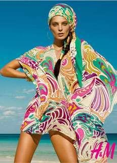 Matthew Williamson 💘 H&M sheer silk kaftan in vibrant shades
