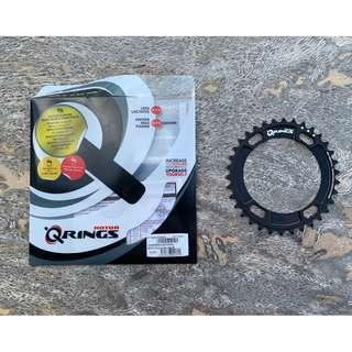 Rotor Q-Rings BCD110x4 Q34T Inner Oval Carbon Chainring