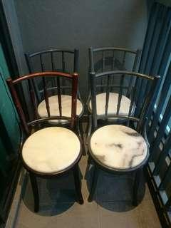 4 x used kopitiam chairs