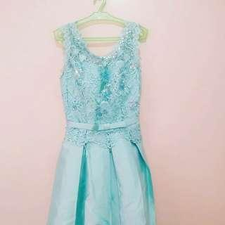 MINT BLUE COCKTAIL DRESS