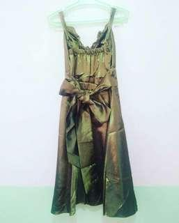ARMY GREEN COCKTAIL DRESS