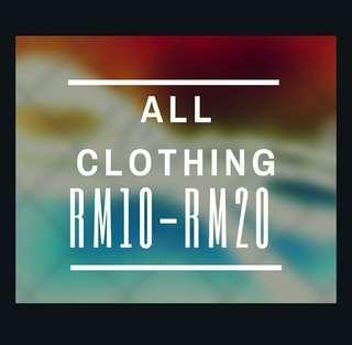All Clothing Rm10-Rm20