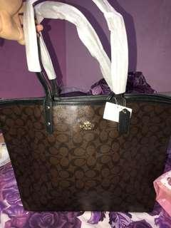 reversible tote bag coach (nwt)