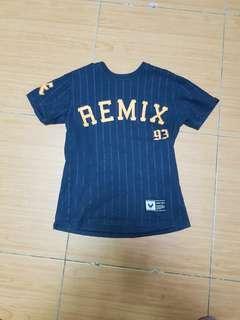 🚚 Remix藍色棒球短T