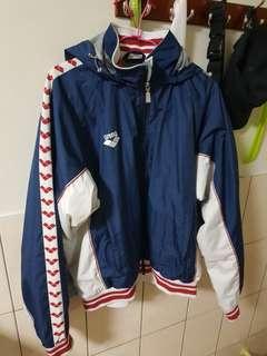 🚚 緞帶古著運動外套