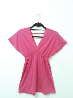 Pink low blouse