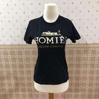 Kaos hitam gold tshirt BLTEE homies