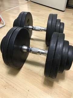 Pair of 27.5kg Dumbells