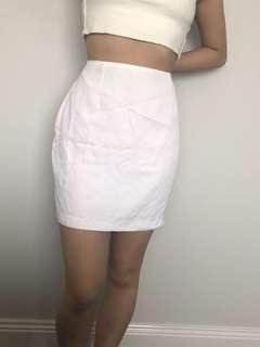 Ojay silky white skirt