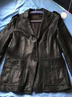 BCBG sheep Leather Jacket 羊皮夾克 L size