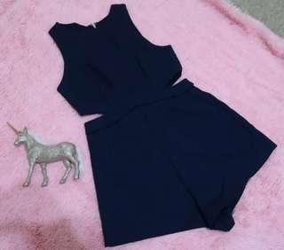 ANGEL BIBA Navy Blue Playsuit Jumpsuit 8