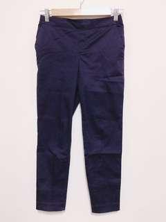 🚚 Net鬆緊帶西裝褲(藍)