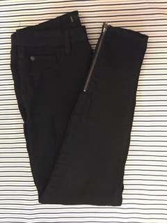 Black Ankle Zip Skinny Jeans
