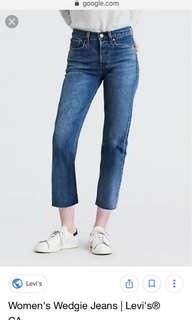 Levi's high waisted raw hem