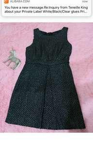 BNWOT PORTMANS Black Sparkly Dress Size 12