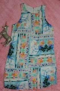 BNWOT FOREVER NEW Tunic Floral Dress Womens Size 10