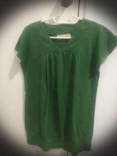 ForMe Green Cotton Blouse Blouse (preloved)