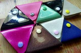 Handmade Glitter Vinyl Coin Key Pouch Wedding Party Favors Goodie Bag Fillers