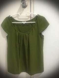 Adore Olive Green Blouse (preloved)