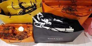 名牌紙袋 Fashion House Original Paperbag  Hermès Chanel Fendi