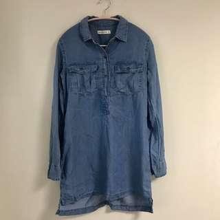 Abercrombie and Fitch A&F denim shirt dress long sleeve 牛仔 恤衫 裙