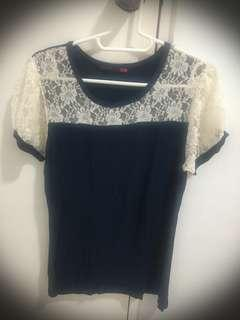 Shapes Laced Cotton Shirt (preloved)