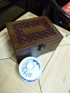 🚚 精緻雕花木頭禮盒(三槽)