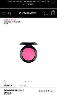 🚚 Mac Powder Blush A96 Bright Pink