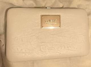 Colette white wallet purse clutch