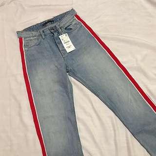 SALE❗️Zara Highwaist Denim Track Pants