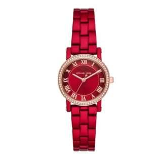 Michael Kors Ladies' Noris Crystal Red Dial Watch