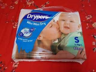 Drypers Wee Wee Dry Diaper S Size 82 pcs