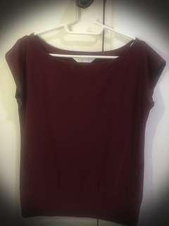 X-Quisite Maroon Blouse (preloved)