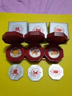 silver proof coin$10 3sets 2005,2006,2007
