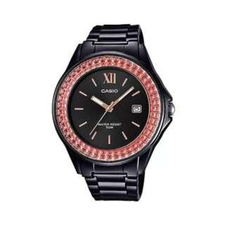 Casio Ladies' Standard Analog Black Resin Band Watch