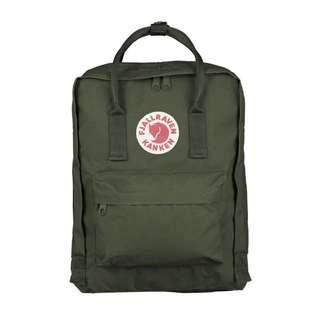 Authentic Classic Fjallraven Kanken (Green) backpack