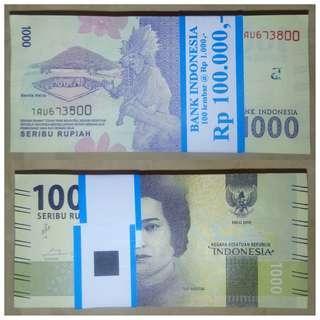 Jasa Tukar Uang Baru pecahan Rp 1000 bergambar Pahlawan Cut Meutia