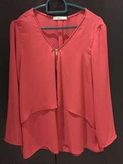 Bershka chiffon blouse
