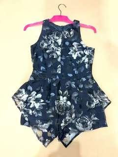 Flower organza navy jumpsuit