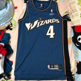 Reebok NBA 波衫/ 球衣 Swingman wizards Jamison 作客藍 (Size S)